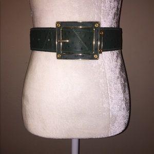 3.1 Phillip Lim Genuine Ostrich Leather Belt.
